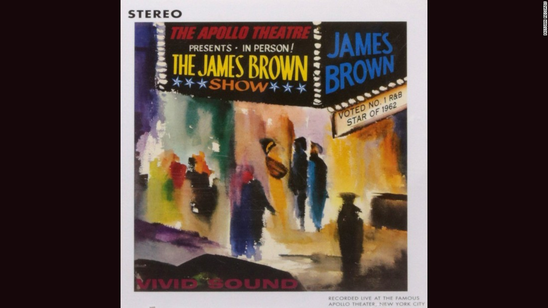 "<strong>""Live at the Apollo, 1962,"" James Brown:</strong> James Brown in the studio was thrilling, but James Brown on stage was electrifying. The impressionistic cover of his 1963 album, with vibrant audience members milling outside a marquee, was done by Dan Quest."