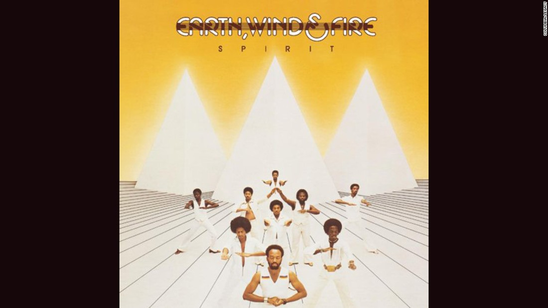 "<strong>""Spirit,"" Earth, Wind & Fire</strong>: Funk could go to otherworldly places, and Earth, Wind & Fire's covers regularly showed off a love of pyramids and Egyptian imagery. ""Spirit,"" a 1976 release, was one of the band's more minimalist efforts; check out ""All 'n' All"" and ""I Am"" for more dramatic illustrations."