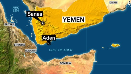 Aden is on Yemen's southern coast, across the Gulf of Aden from Somalia.
