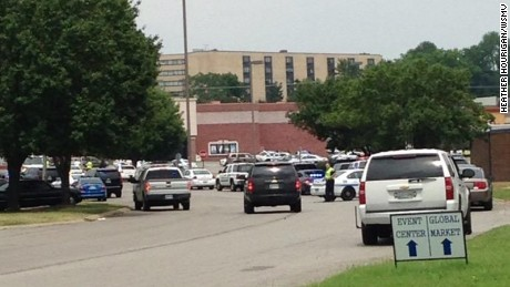 Scene at the Carmike Hickory 8 movie theater in Antioch, TN. Police and medics continue to arrive.