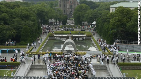 Renovation of the cenotaph in the heart of the Hiroshima Peace Memorial Park is one of the new projects planned.