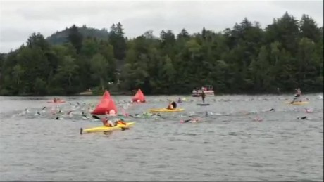 The start of Ironman Lake Placid