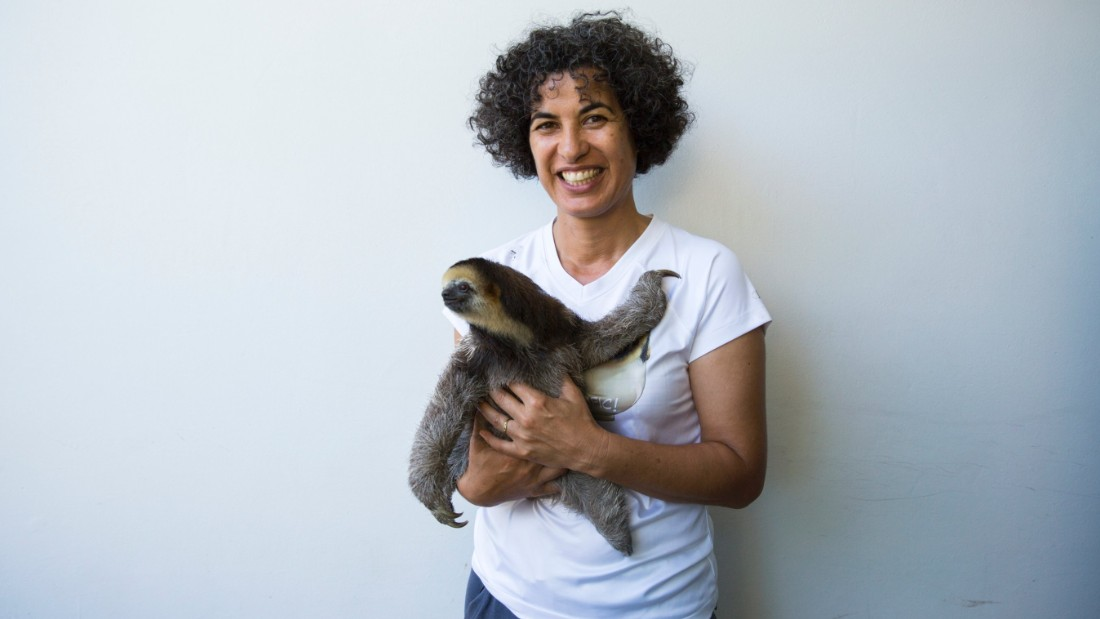CNN Hero 2015 nominee Monique Pool has been helping rescue animals in her native Suriname since 2005. She is recognized for her particular interest in three-toed and two-toed sloths, of which she has rescued and released several hundred in the past decade.
