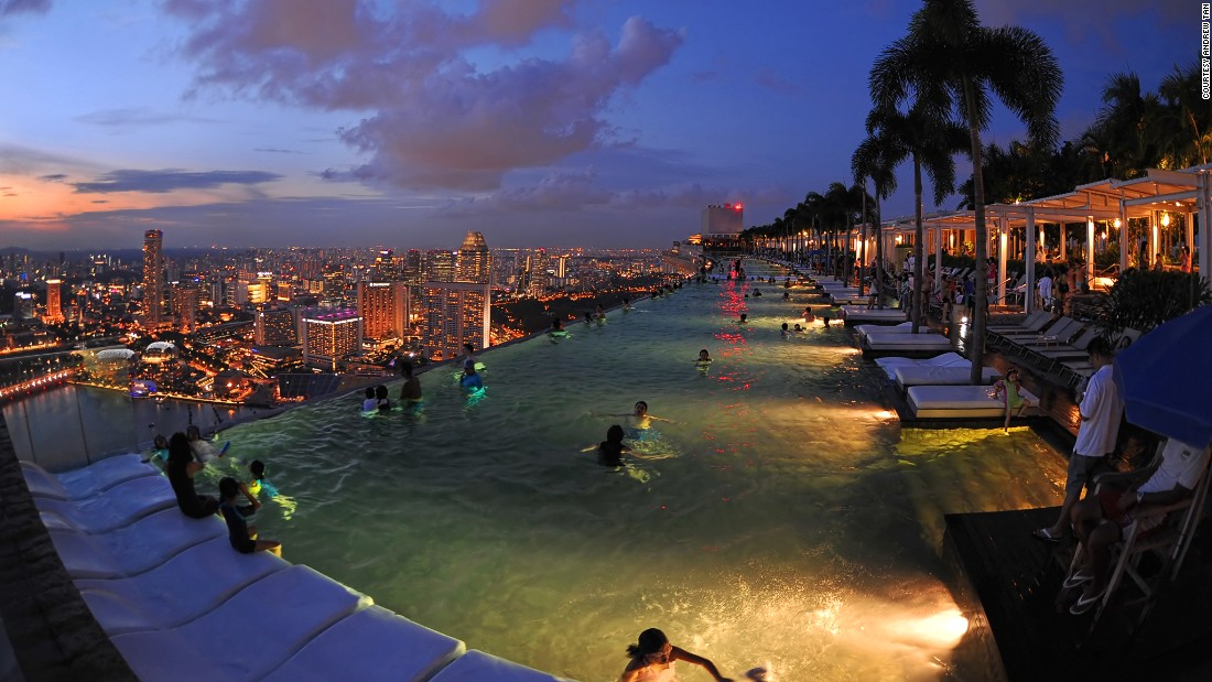 As if the altitude weren't enough, Marina Bay Sand's 495-foot pool is also an infinity pool.