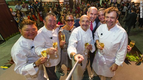 Any more celeb chefs stop by and we'll need a longer selfie stick.