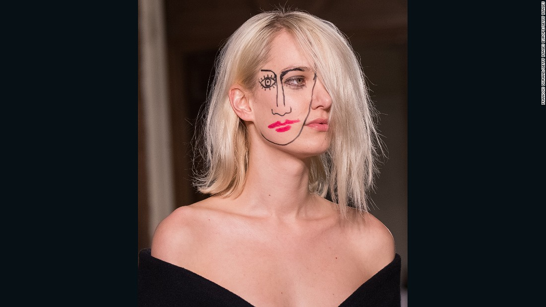 "At Jacquemus, Simon Porte, who was short-listed for this year's <a href=""http://www.lvmhprize.com/"" target=""_blank"">LVMH Prize</a> for young designers, had some models walk with face paint inspired by German photographer <a href=""http://www.sebastianbieniek.com/"" target=""_blank"">Sebastian Bieniek</a>."