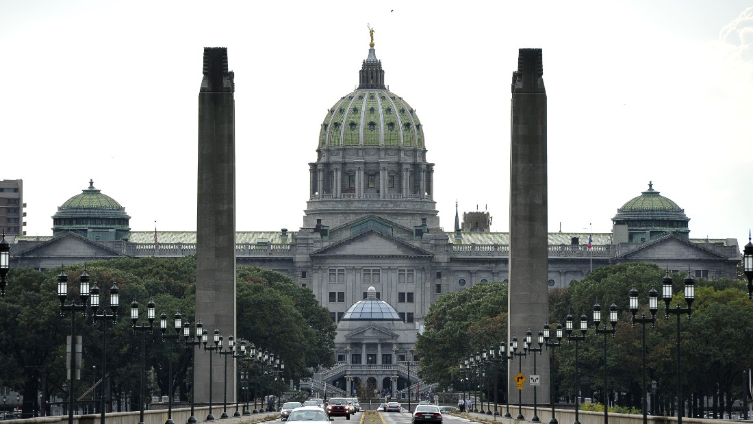 A picture made October 14, 2011 shows the Capitol Building in Pennsylvania's capital Harrisburg.