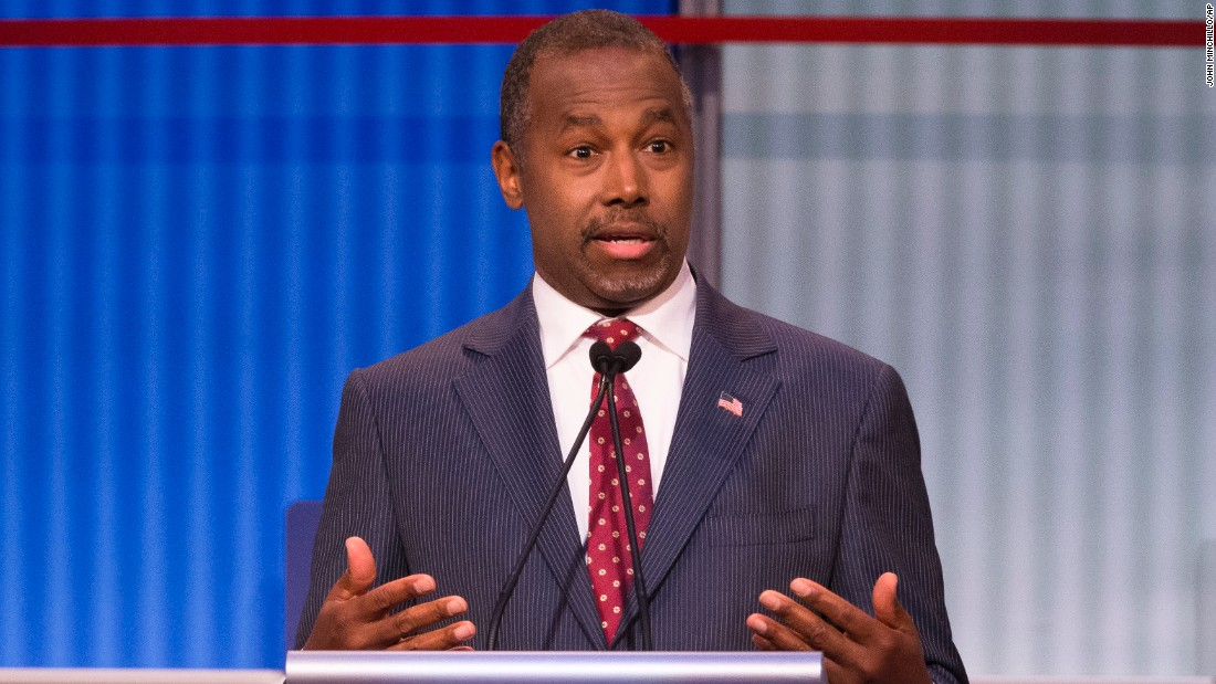 "Republican presidential candidate<a href=""http://www.cnn.com/interactive/2015/05/politics/2016-election-candidates/#Carson""> Ben Carson</a>, a retired neurosurgeon, rose to national prominence in 2013 after harshly critiquing the Affordable Care Act at the National Prayer Breakfast, when he warned the U.S. is traveling down the same path as ancient Rome.<br /><br />Carson, the only African-American onstage, said he was once asked by a reporter why he doesn't talk more about race. ""I said it's because I'm a neurosurgeon,"" he said. When you operate on someone's brain, he added, ""the skin doesn't make them who they are."" He was operating on the part that makes them who they are, not their skin, he said. The response earned him applause. <br />"