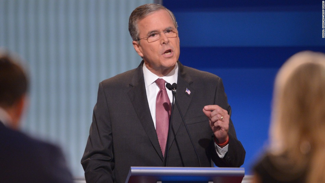 "Former Florida Gov.<a href=""http://www.cnn.com/interactive/2015/05/politics/2016-election-candidates/#Bush""> Jeb Bush</a> is son to former president George H.W. Bush and brother to former president George W. Bush. He has been trailing in second place behind Trump in the polls. Bush has been involved in politics since the early 1980s.<br /><br />Bush addressed the immigration issue by stressing that he did not support ""amnesty.""  ""We need to be much more strategic on how we deal with border enforcement, border security,"" Bush said. ""We need to eliminate the sanctuary cities in this country. It is ridiculous and tragic that people are dying because of the fact that local governments are not following the law."""