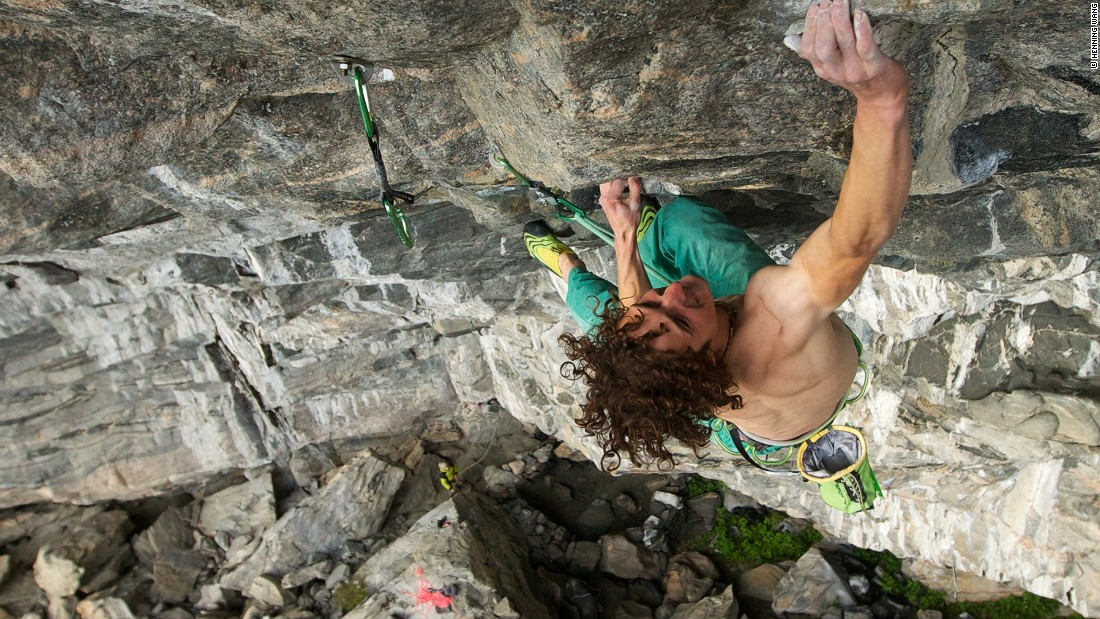 "Ondra tackles another route in Flatanger called ""Iron Curtain."" The Czech climber was also the first to complete this climb rated a 9b."