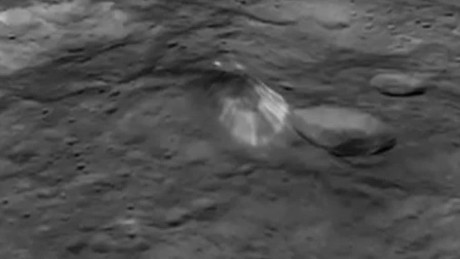 ceres dwarf planet flyover pyramid bright spots orig_00011905