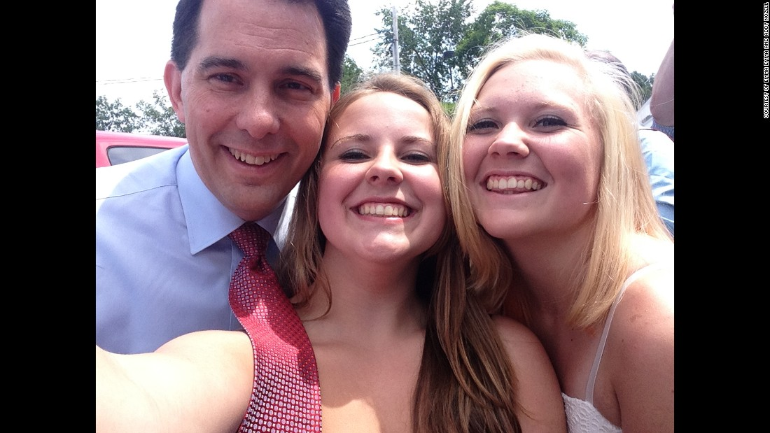Wisconsin Gov. Scott Walker in Amhert, New Hampshire on July 16.