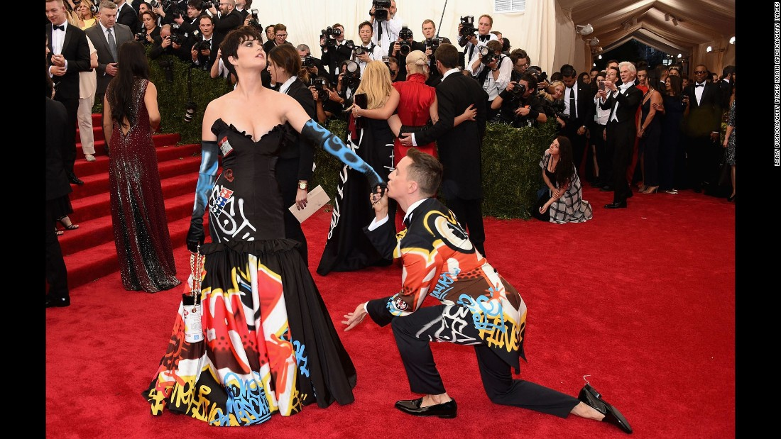 """Perry and Jeremy Scott attend the """"China: Through The Looking Glass"""" Costume Institute Benefit Gala at the Metropolitan Museum of Art in May."""