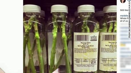 Last week tonight mock commercial for whole foods asparagus water Daily Hit newday _00000209