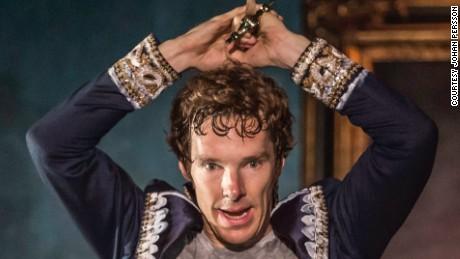 "Actor Benedict Cumberbatch in ""Hamlet"" at the Barbican Theatre in London."