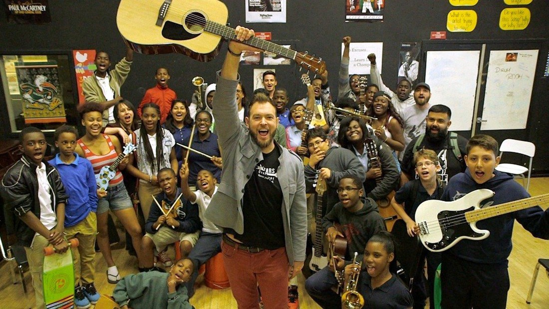 Musician Chad Bernstein's mentorship nonprofit has helped Miami-area students increase academic performance and attendance.