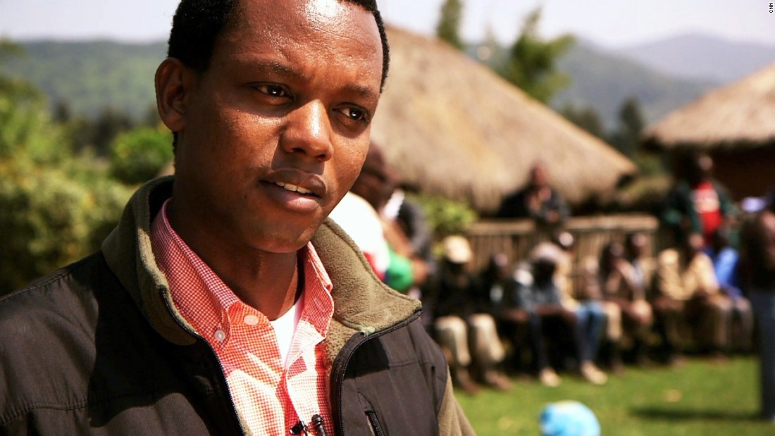"""<a href=""""http://www.cnn.com/2015/06/11/world/cnn-heroes-sabuhoro/index.html"""" target=""""_blank"""">Edwin Sabuhoro's</a> nonprofit, Iby'lwacu Cultural Village, turns gorilla poachers into protectors by offering income opportunities near a habitat for endangered gorillas."""