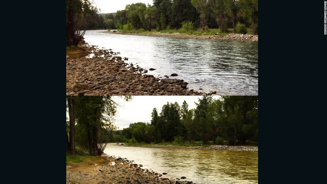 Evans shot these photos outside the Durango Riverside Resort. The top photo was taken on August 4; the bottom photo was shot August 7.