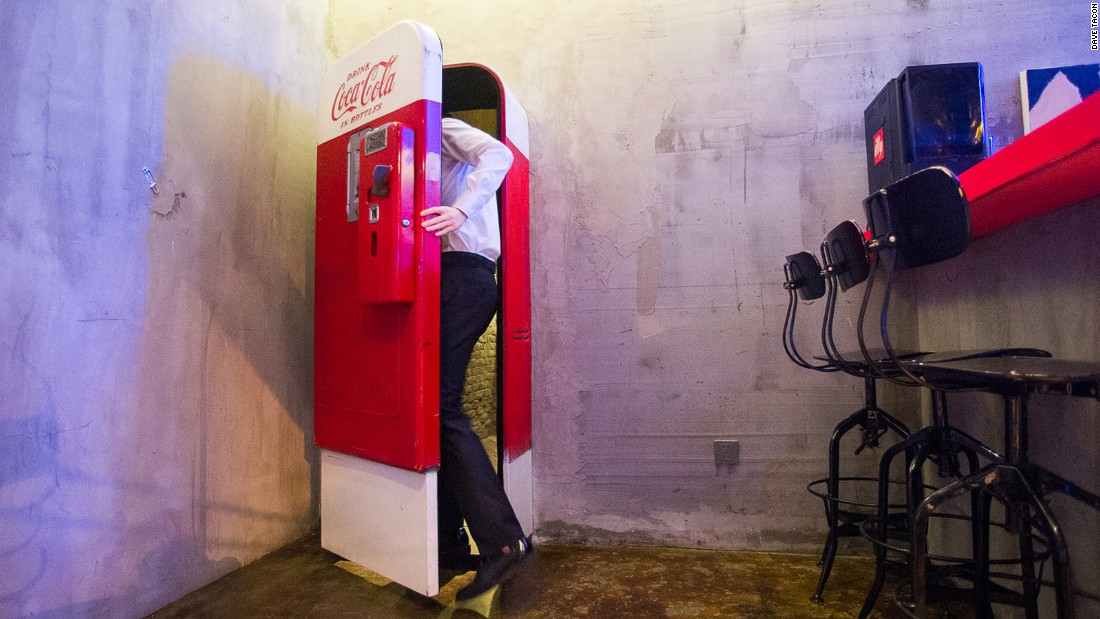 If you're thirsty in Shanghai, this vintage Coca-Cola vending machine offers some unexpected refreshment. It's the secret entrance to Flask, a hidden cocktail bar in the former French Concession.