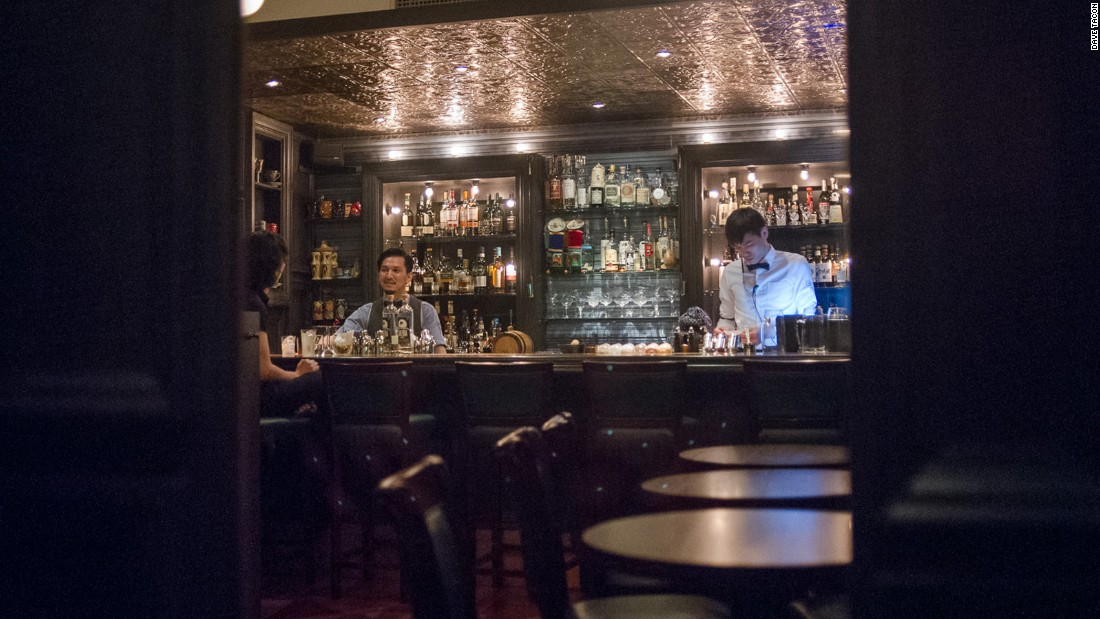 Speak Low is the brainchild of Shingo Gokan, founder of New York's Angel's Share bar. The speakeasy is hidden behind a bookcase in a shop specializing in bartending equipment.