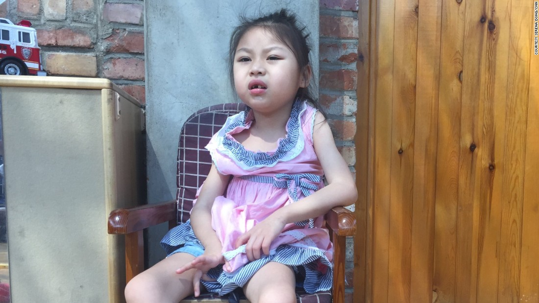 "Born in 2009, Hui Hui has cerebral palsy. Her carers at Children's Hope say she used to have difficulty eating but with ""the help of nanny's eating guide and rehabilitation training, Hui Hui gradually started to eat porridge and fruit."" Now, she can feed herself. ""Hui Hui is really cute and everyone likes the girl when they see her,"" her carers say."