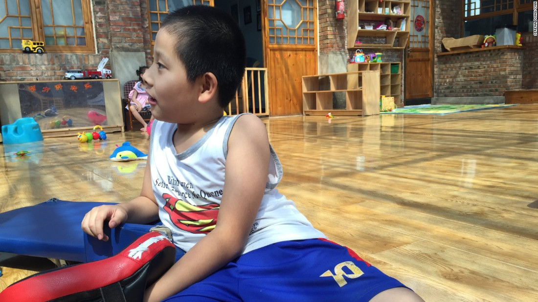 JiaJia, 9, is paralyzed from the chest down. He is the oldest child in Alenah's Home, a medical foster home Beijing that currently cares for 23 children with disabilities.
