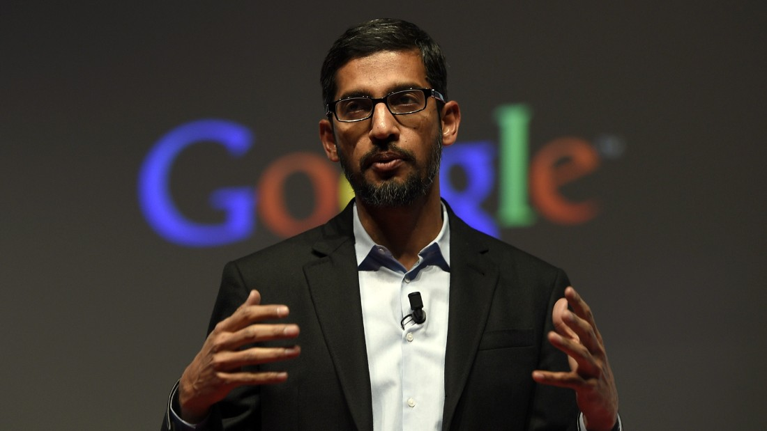 Google's Senior Vice President Sundar Pichai gives a keynote address during the opening day of the 2015 Mobile World Congress (MWC) in Barcelona on March 2, 2015. Phone makers will seek to seduce new buyers with even smarter Internet-connected watches and other wireless gadgets as they wrestle for dominance at the world's biggest mobile fair starting today.   AFP PHOTO / LLUIS LLENE        (Photo credit should read LLUIS GENE/AFP/Getty Images)