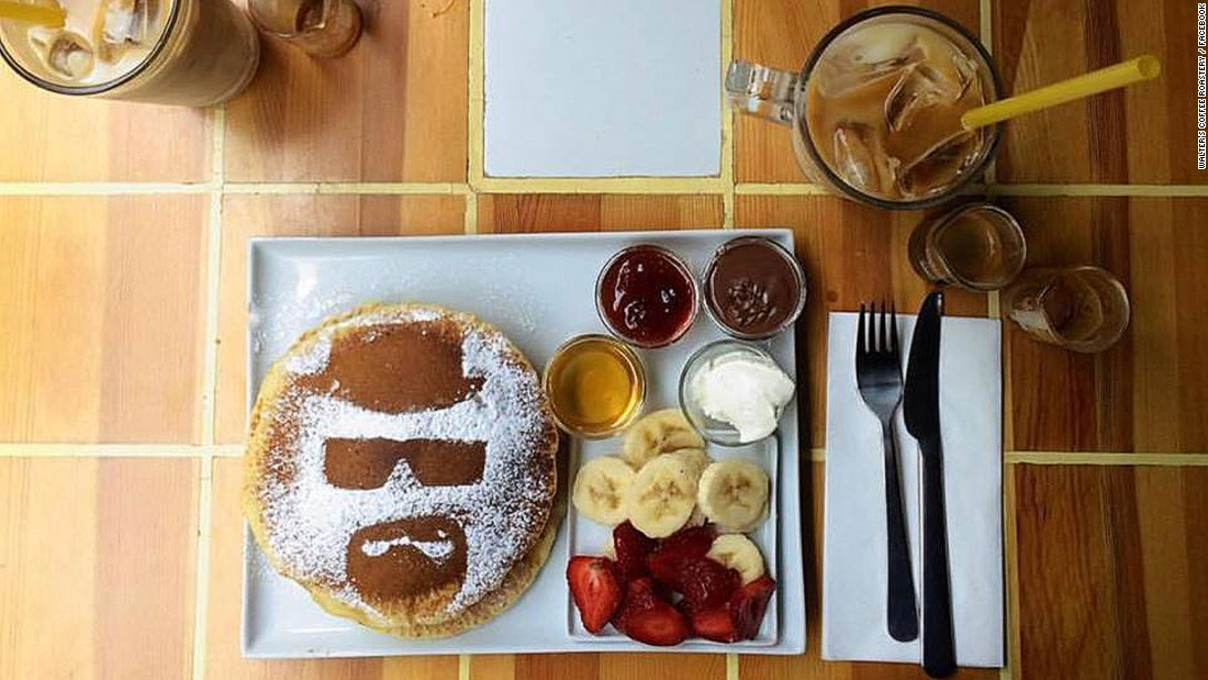 "Walter White may have cooked his last nearly two years ago, but his spirit lives on in the hearts of superfans. And, apparently, in pancakes. A ""Breaking Bad"" cafe has opened in Istanbul (pictured) and there's a pop-up ""Breaking Bad"" bar in London this summer."