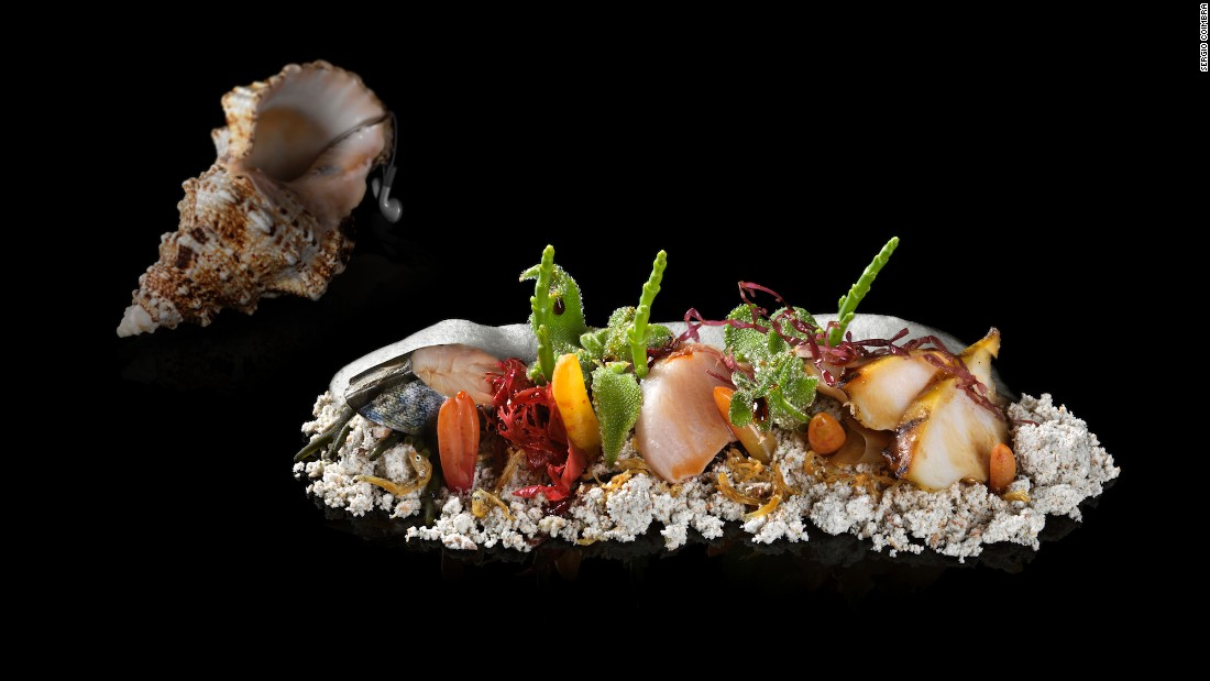 "The Fat Duck's ""Sound of the Sea"" is a sculptural plate of seafood, seaweed and panko ""sand"" that comes with an iPod tucked into a conch shell."