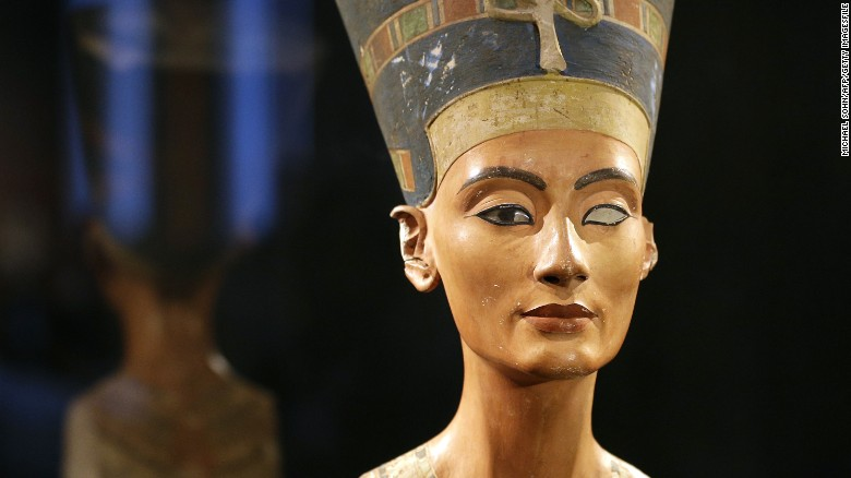 Nefertiti bust on display in Berlin in 2012.