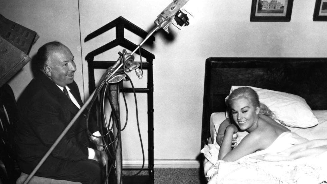 """Vertigo"" Director Alfred Hitchcock, Kim Novak 1958 Paramount"