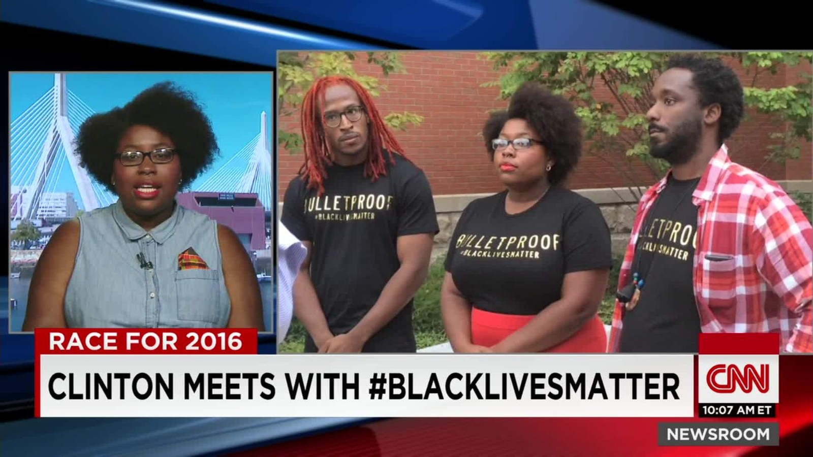 Hillary Clinton Speaks With Black Lives Matter Activists
