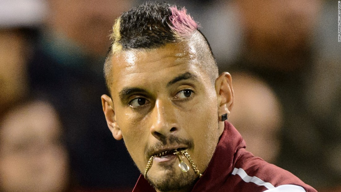Kyrgios received a fine from the ATP last year after his lewd sledge aimed at the direction of Stan Wawrinka and his girlfriend during a tournament in Montreal.