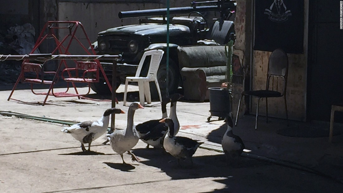 The battle for Yarmouk is an incremental one. Regime-allied fighters use flocks of geese in attempt to detect rebels breaking through the front lines.