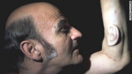 Stelarc is a performance artist who had an ear surgically attached to his arm, and he hopes to get it internet enabled so that people can 'tune in' worldwide.