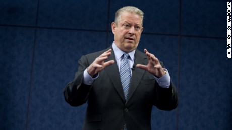 Former US Vice President Al Gore speaks about climate change during the Fourth Annual Rhode Island Energy and Environmental Leaders Day at the US Capitol in Washington, DC, June 11, 2013.