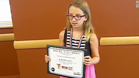 girl saves grandfather 911 award dnt ks_00002816