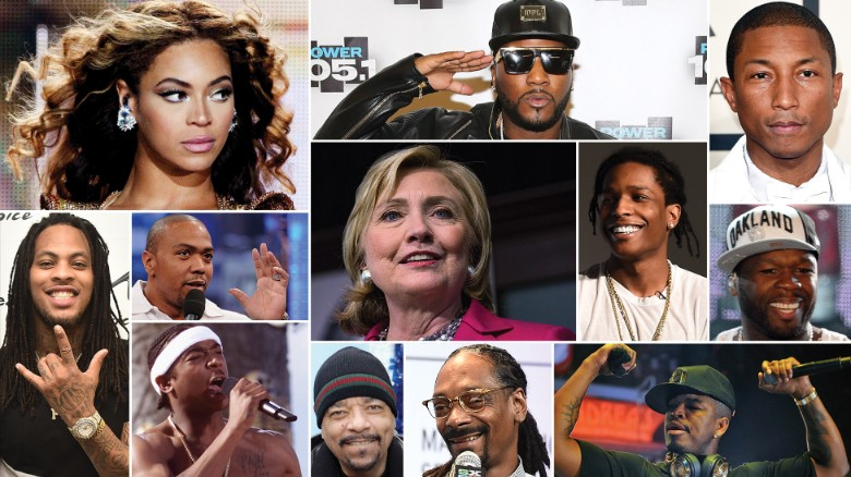 Hillary Clinton as a hip hop icon