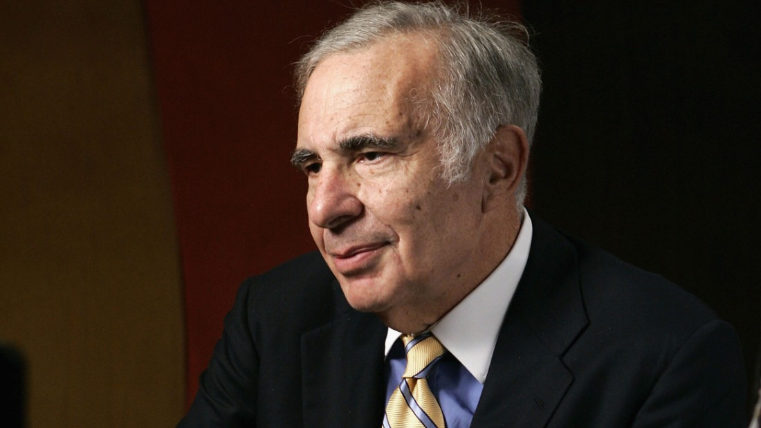 "Finacier Carl Icahn is seen being interviewed at ""David Moore's Funny Business Show"" at Caroline's on Broadway on November 2, 2005 in New York City."