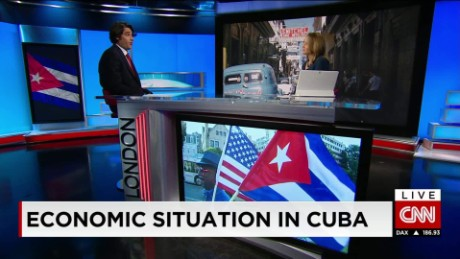 exp Diego Moya-Ocampos, Senior Analyst, Americas, IHS Country Risk, discusses the economy of Cuba. _00002001
