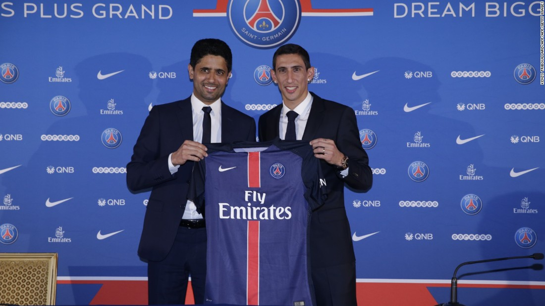 Angel Di Maria has joined Paris Saint-Germain -- just one year after signing for Manchester United for a British record fee. United paid $93.2 million to bring the Argentina international to Old Trafford last summer, but after a frustrating first season he has now moved to the French Ligue 1 champion for a reported $69.2 million.