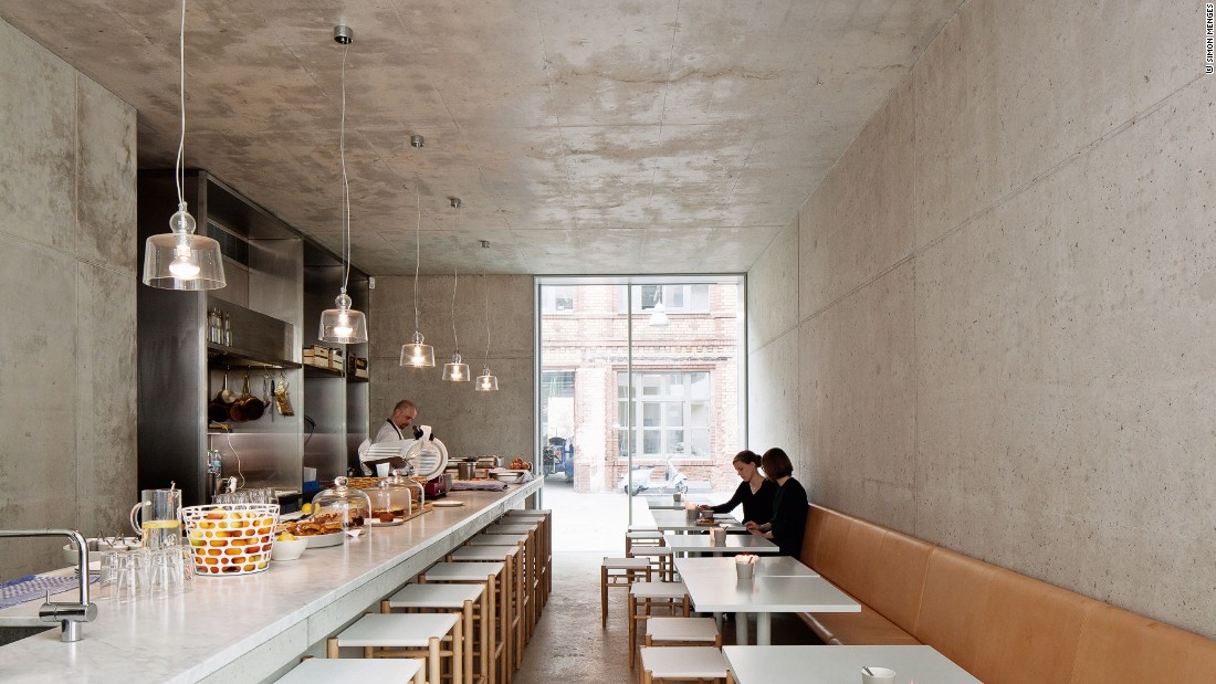 "British architect <a href=""http://www.davidchipperfield.co.uk/"" target=""_blank"">David Chipperfield's</a> Berlin offices also make use of glass and wood accents throughout."