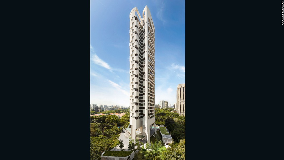 "This 36-floor condo by <a href=""http://www.unstudio.com/"" target=""_blank"">UNStudio</a> was cast in place using columns that were nearly 100 feet high."