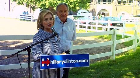 Tom Harkin with Hillary Clinton in Iowa in 2015.