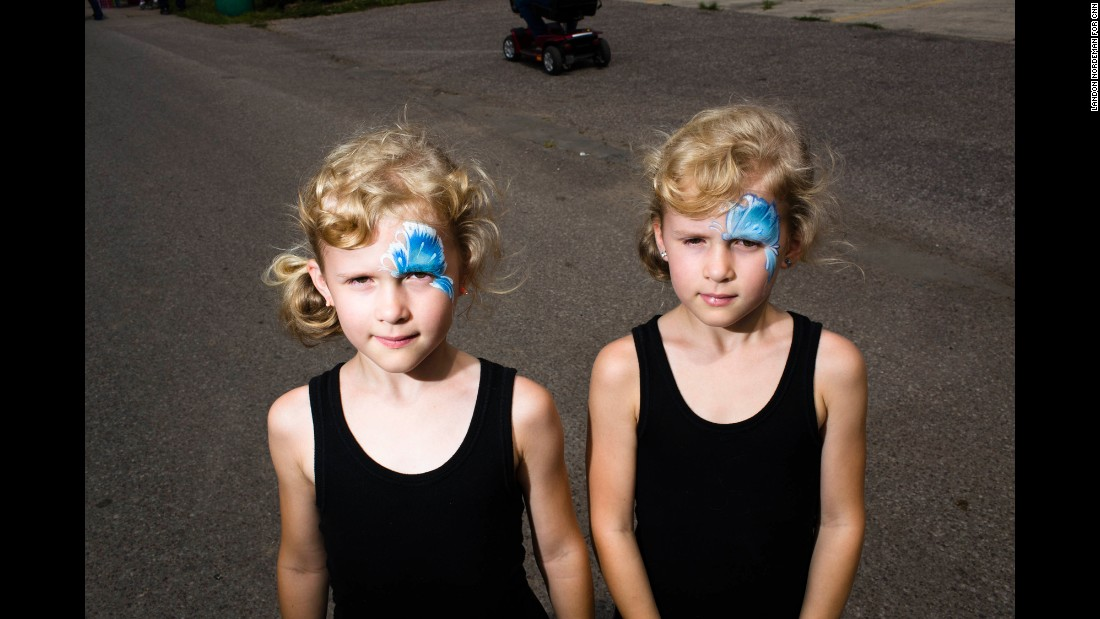 Twins Quinn and Emerson Eastman, 7, competed in the Twins, Triplets and More Contest.
