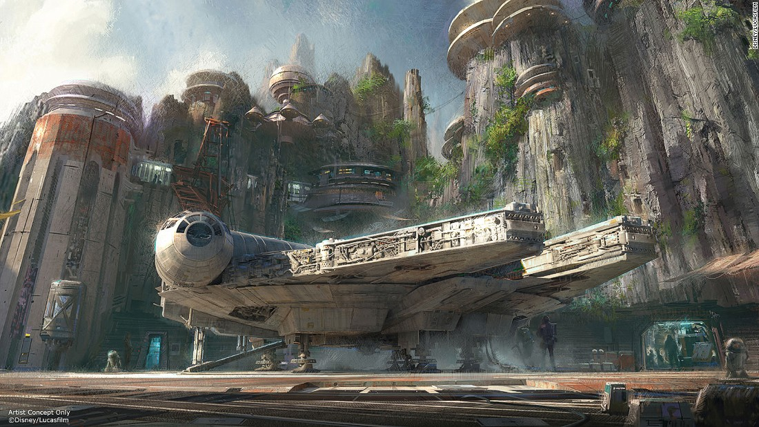Visitors will get the chance to ride in a Millennium Falcon, drink in a Mos Eisley-style cantina and immerse themselves in an epic battle between the First Order and the Resistance.