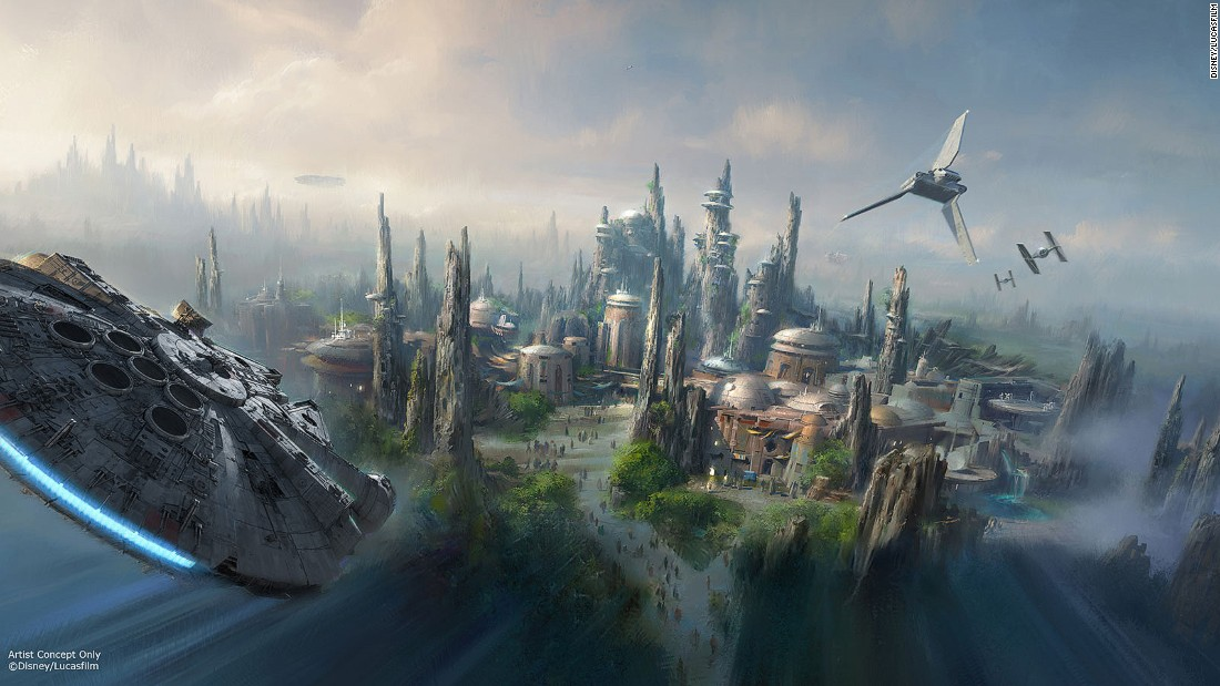 "<strong>Star Wars land, Disney (Florida and California): </strong>Disney CEO Bob Iger told the crowd at the company's D23 Expo that the ""jaw-dropping new world' will be Disney's ""largest, single-themed land expansion ever."""