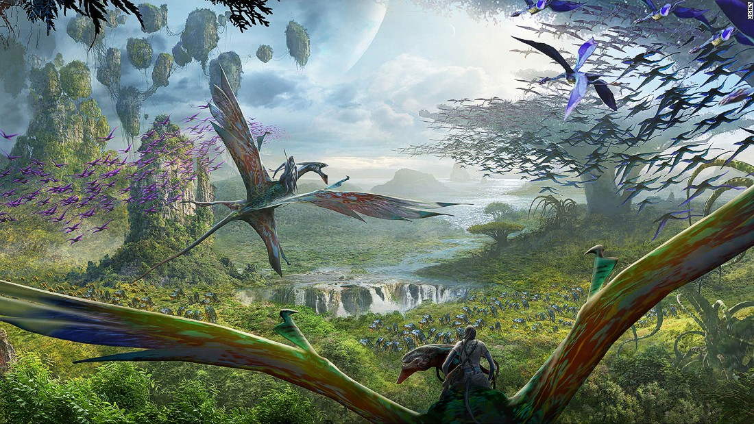 "Director James Cameron was at the D23 Expo to reveal details of a new ""Avatar"" theme land at Disney's Animal Kingdom. The centerpiece ride will be a simulated flight through Pandora on the back of a banshee."