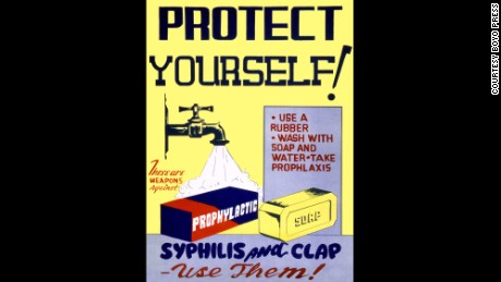"From the book by Boyo Press, ""Protect Yourself: Venereal Disease Posters of World War II"""