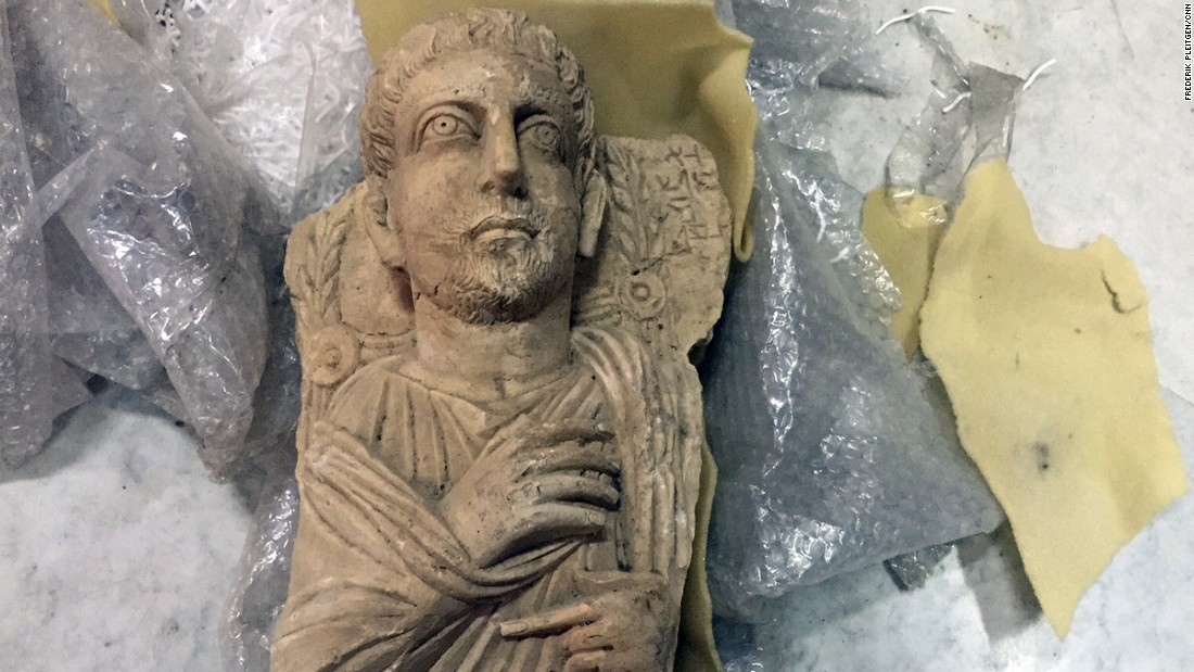 This Roman statue was rescued from Palmyra ahead of ISIS' advance earlier this year.